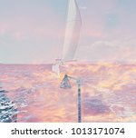 the beautiful abstract complex... | Shutterstock . vector #1013171074