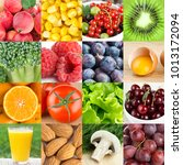 background of fresh healthy food | Shutterstock . vector #1013172094