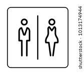 wc   toilet door plate icon....   Shutterstock .eps vector #1013174944