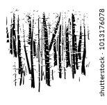 birchwood  vector  black and... | Shutterstock .eps vector #1013176078