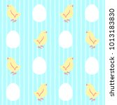 easter seamless vector pattern... | Shutterstock .eps vector #1013183830