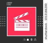 clapperboard symbol icon   Shutterstock .eps vector #1013186200