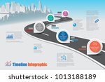 business road map timeline... | Shutterstock .eps vector #1013188189