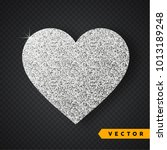 Vector Silver Sparkles Heart....