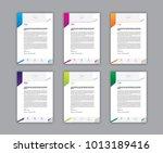 set of letterhead design   Shutterstock .eps vector #1013189416