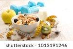healthy breakfast  diet food... | Shutterstock . vector #1013191246
