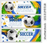 soccer game banners background... | Shutterstock .eps vector #1013195518