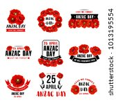 anzac day 25 april australian... | Shutterstock .eps vector #1013195554