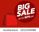 big sale price tag shopping bag ... | Shutterstock .eps vector #1013196988