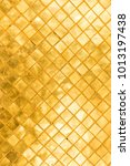 golden siny mosaic tile | Shutterstock . vector #1013197438