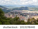 panoramic view of genoa in a... | Shutterstock . vector #1013198440
