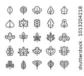 leaf icon set | Shutterstock .eps vector #1013204218