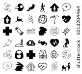 life icons. set of 36 editable... | Shutterstock .eps vector #1013204464