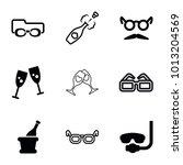 glasses icons. set of 9... | Shutterstock .eps vector #1013204569