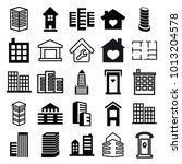 apartment icons. set of 25... | Shutterstock .eps vector #1013204578