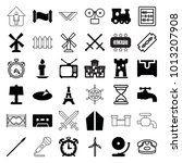 old icons. set of 36 editable...   Shutterstock .eps vector #1013207908