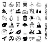 environment icons. set of 36... | Shutterstock .eps vector #1013207938
