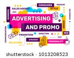 advertising and promo bright... | Shutterstock .eps vector #1013208523