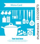 cookery card. vector...   Shutterstock .eps vector #101320873