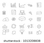business icons set. icons for... | Shutterstock .eps vector #1013208838