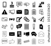 message icons. set of 36...   Shutterstock .eps vector #1013210620