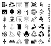 ecology icons. set of 36... | Shutterstock .eps vector #1013210668