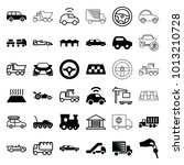 automobile icons. set of 36... | Shutterstock .eps vector #1013210728