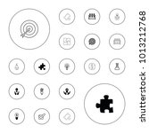 editable vector solution icons  ... | Shutterstock .eps vector #1013212768