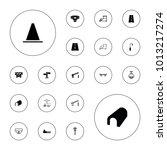 editable vector street icons ... | Shutterstock .eps vector #1013217274