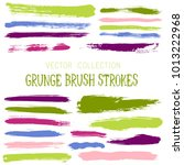 hipster paint brush strokes... | Shutterstock .eps vector #1013222968