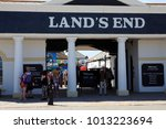 Small photo of Land's End area (England), UK - August 16, 2015: Land's End souvenir shop, Cornwall, England, United Kingdom.