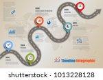 business road map timeline... | Shutterstock .eps vector #1013228128