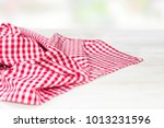 The Checkered Tablecloth On A...