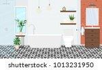 modern interior design of the... | Shutterstock .eps vector #1013231950