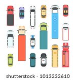 vehicles   set of modern vector ... | Shutterstock .eps vector #1013232610