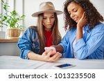 young female best friend...   Shutterstock . vector #1013235508