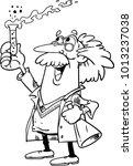 mad scientist cartoon character ... | Shutterstock .eps vector #1013237038
