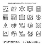 sound production  bold line... | Shutterstock .eps vector #1013238013