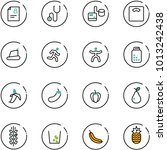 line vector icon set   patient... | Shutterstock .eps vector #1013242438