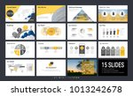 presentation template with... | Shutterstock .eps vector #1013242678