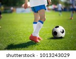 feet of football player with... | Shutterstock . vector #1013243029