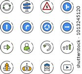 line vector icon set   exchange ... | Shutterstock .eps vector #1013245120