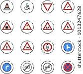 line vector icon set   road... | Shutterstock .eps vector #1013247628