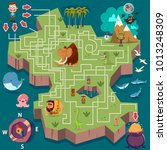 children's labyrinth puzzle... | Shutterstock .eps vector #1013248309