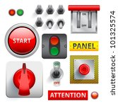 set of switches  toggle... | Shutterstock .eps vector #101325574