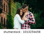 sensitive outdoor portrait of... | Shutterstock . vector #1013256658