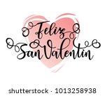 happy valentine's day spanish... | Shutterstock .eps vector #1013258938