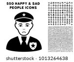 pitiful sheriff pictograph with ... | Shutterstock .eps vector #1013264638