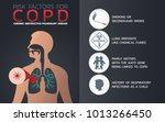 chronic obstructive pulmonary... | Shutterstock .eps vector #1013266450