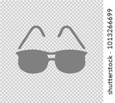 sun glasses vector icon eps 10. ... | Shutterstock .eps vector #1013266699